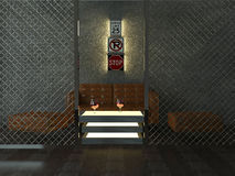 Diseño interior de barra moderna Foto de archivo libre de regalías