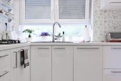 Diseño interior de la cocina Foto de archivo