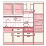 Diseño interior de la cocina Imagen de archivo