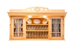 Diseño interior de la cocina de encargo hermosa de madera imagen de archivo