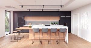 Diseño interior de la cocina moderna ilustración del vector