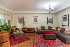 Diseño interior de la sala de estar Imágenes de archivo libres de regalías