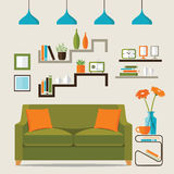 Diseño interior de la sala de estar Fotos de archivo libres de regalías