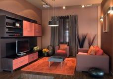 Diseño interior de la sala de estar elegante y de lujo. imagenes de archivo