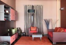 Diseño interior de la sala de estar moderna. Imagenes de archivo