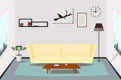 Diseño interior de la sala de estar interior Imagen de archivo libre de regalías