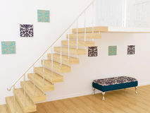 Diseño interior de Moder Imagen de archivo libre de regalías