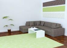 Diseño interior de Moder de sala de estar Foto de archivo
