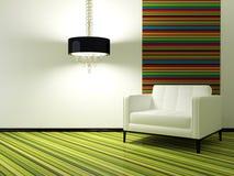 Diseño interior de sala de estar moderna Imágenes de archivo libres de regalías