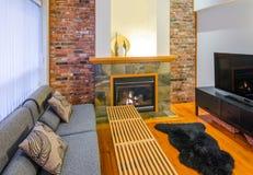 Diseño interior de una sala de estar de lujo Foto de archivo libre de regalías