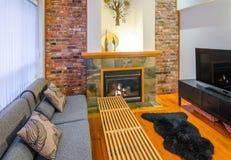 Diseño interior de una sala de estar de lujo Fotografía de archivo