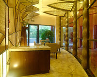 Diseño interior del balneario moderno Fotografía de archivo libre de regalías