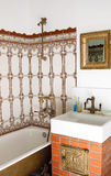 Diseño interior del cuarto de baño Foto de archivo libre de regalías