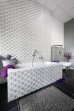 Diseño interior del cuarto de baño moderno Fotografía de archivo libre de regalías