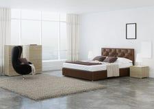Diseño interior del dormitorio Fotografía de archivo libre de regalías