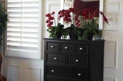 Diseño interior del dormitorio hermoso foto de archivo libre de regalías
