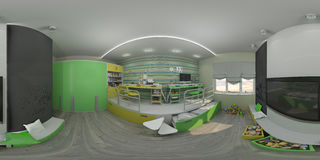 diseño interior del ejemplo 3d del ` s de los niños stock de ilustración