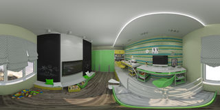 diseño interior del ejemplo 3d del ` s de los niños Imágenes de archivo libres de regalías