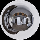 diseño interior del pasillo del ejemplo 3d en estilo clásico Render es Fotografía de archivo libre de regalías
