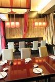Diseño interior del restaurante Fotografía de archivo