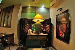 Diseño interior del restaurante tailandés Imagen de archivo