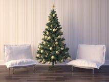 Diseño interior del sitio de la Navidad Imagen de archivo libre de regalías