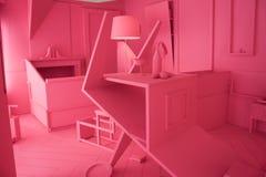 Diseño interior en el espacio de Ventura Lambrate durante la semana de Milan Design imagenes de archivo