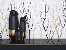 Diseño interior Floreros de lujo Imagen de archivo libre de regalías