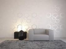 Diseño interior gris Fotografía de archivo libre de regalías