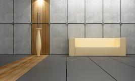 Diseño interior - madera y piedra ilustración del vector