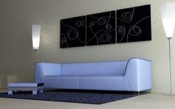 Diseño interior - mobiliario moderno libre illustration