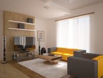 Diseño interior moderno Fotografía de archivo libre de regalías