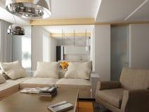 Diseño interior moderno Imágenes de archivo libres de regalías