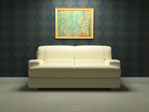 Diseño interior moderno de sala de estar Fotos de archivo