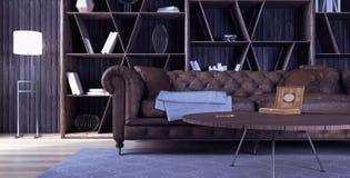 Diseño interior moderno de sala de estar Foto de archivo