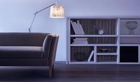 Diseño interior moderno de sala de estar Imágenes de archivo libres de regalías