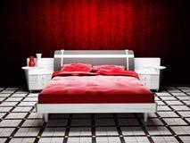 Diseño interior moderno de sitio de la cama Fotos de archivo libres de regalías