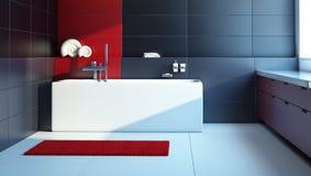 Diseño interior moderno de un cuarto de baño Fotografía de archivo libre de regalías