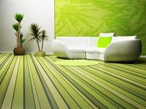 Diseño interior moderno de vida ilustración del vector