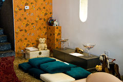 Diseño interior rústico Foto de archivo libre de regalías