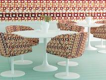 Diseño interior retro de café Imagenes de archivo