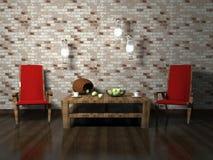 Diseño interior romántico de sala de estar moderna Fotografía de archivo libre de regalías