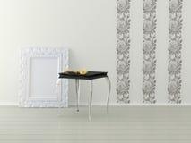 Diseño interior romántico de sitio blanco Imagen de archivo libre de regalías