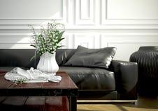 Diseño interior, sala de estar representación 3d Imagenes de archivo