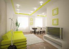 Diseño interior verde Fotos de archivo libres de regalías