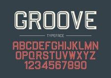 Diseño intrépido decorativo de la fuente del vector del surco, alfabeto, tipografía libre illustration