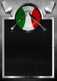 Diseño italiano del menú del restaurante Imagen de archivo libre de regalías