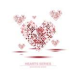 Diseño IV de la serie del corazón del ejemplo del vector Foto de archivo libre de regalías