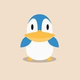 Diseño joven lindo del vector de la historieta del pingüino Imágenes de archivo libres de regalías