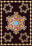 Diseño judaico para las piezas interiores Imagen de archivo